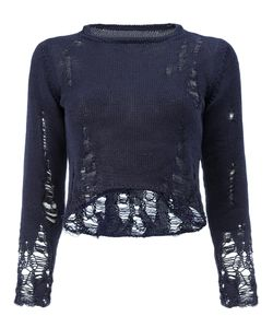 SONG FOR THE MUTE | Destroyed Effect Cropped Blouse
