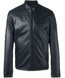 Giorgio Armani | Zipped Leather Jacket 52 Lamb Skin/Polyester