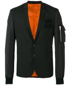 Les Hommes   Zipped Pocket Applique Blazer Size 46