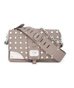 Versace   Stardust Studded Shoulder Bag