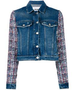 MSGM   Джинсовая Куртка С Вышивкой На Рукавах