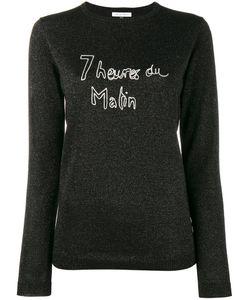 Bella Freud   Glitte Slogan Jumper Xs Wool/Metal/Nylon