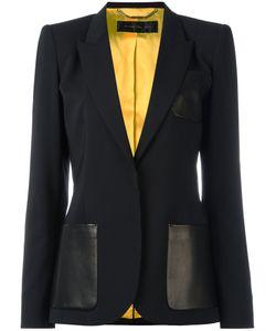 Barbara Bui | Classic Blazer 38 Lamb Skin/Spandex/Elastane/Wool/Viscose