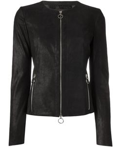 Drome | Zip Up Jacket Small Leather/Viscose/Polyester