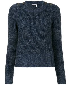 See By Chloe | Button Shoulder Fisherman Sweater