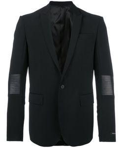 Les Hommes | Classic Blazer 50 Polyester/Spandex/Elastane/Virgin Wool/Leather