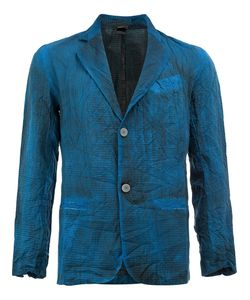 Avant Toi | Bleached Effect Blazer Medium Silk/Cotton/Linen/Flax/Polyamide
