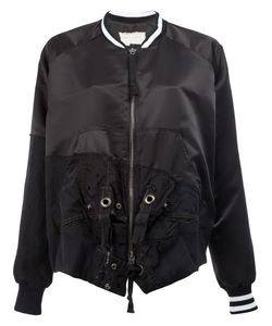 GREG LAUREN | Patchwork Bomber Jacket 4 Cotton/Satin