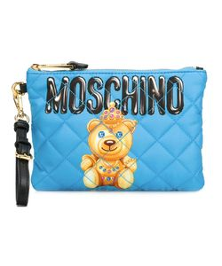 Moschino | Bear Print Clutch Polyester/Leather