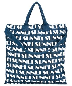 Sunnei   Logo Print Shopper Tote