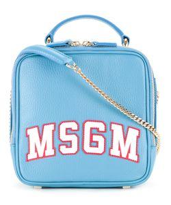 MSGM | Logo Print Crossbody Bag Calf Leather/