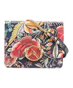 Roberto Cavalli | Enchanted Garden Flap Bag Leather/Cotton/Metal