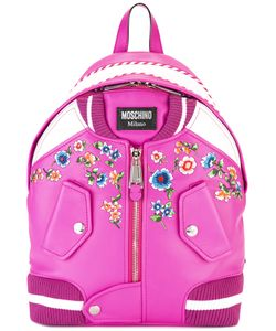 Moschino | Bomber Jacket Backpack Calf Leather/Cotton