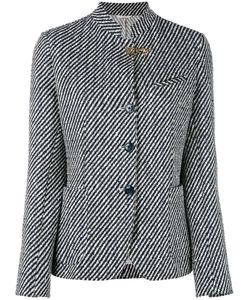 Fay | Striped Standing Collar Blazer