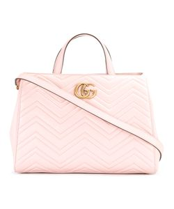 Gucci | Gg Marmont Tote Leather/Suede
