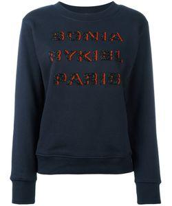 Sonia Rykiel | Beaded Logo Sweatshirt Size Xs