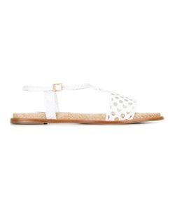 Paloma Barceló | Perforated Detail Sandals 40 Nappa Leather/Leather