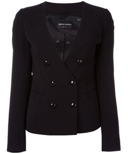Emporio Armani | Double Breasted Blazer 46 Viscose/Spandex/Elastane/Acetate/Polyester