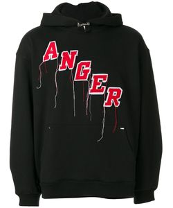 Mr. Completely | Embroidered Anger Hoodie Men