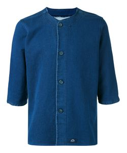 Bleu De Paname | Collarless Denim Shirt