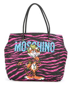 Moschino   Jewelled Tiger Print Tote Polyester/Leather