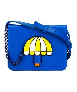 Yazbukey | Umbrella Print Shoulder Bag Leather/Polyamide