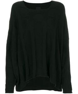 Rundholz Black Label | Curved Hem Dot Pattern Sweater Women