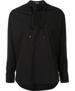 Neil Barrett   Lace-Up Shirt Xs Cotton/Polyamide/Spandex/Elastane