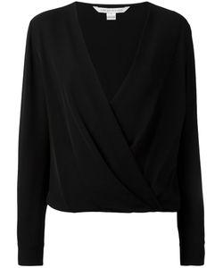 Diane Von Furstenberg   Wrap Style Blouse 2 Silk