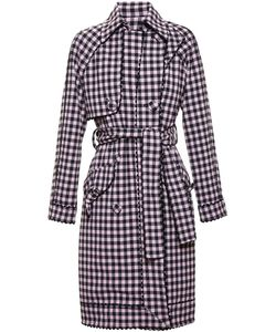 ADAM SELMAN | Gingham Trench Coat