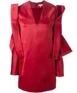 Delpozo | Платье С Асимметричной Аппликацией