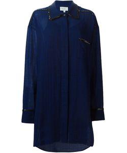 Isa Arfen | Клетчатое Платье-Рубашка С Отделкой Из Пайеток
