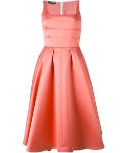Rochas | Расклешенное Платье С Плиссированным Топом