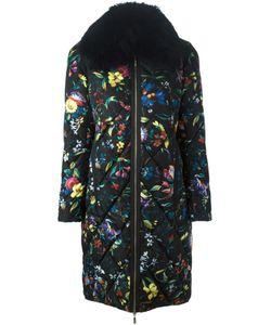 MONCLER X ERDEM | Дутое Пальто С Цветочным Принтом