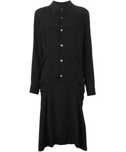 YOHJI YAMAMOTO VINTAGE | Платье-Рубашка С Прорезными Деталями