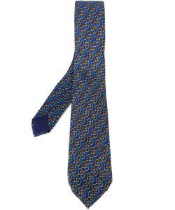 Hermès Vintage | -Tone Print Tie