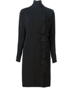GUY LAROCHE VINTAGE | Креповое Платье С Отделкой Рюшами