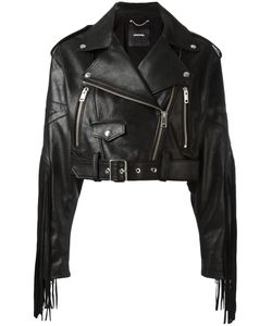 Diesel | Fringed Biker Jacket Xs Calf Leather/Cotton