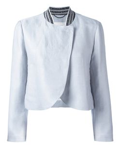 Dorothee Schumacher | Curved Hemline Cropped Jacket 4 Cotton