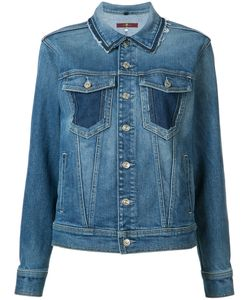 7 for all mankind | Raw Edge Collar Denim Jacket