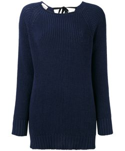 Semicouture | Boat Neck Ribbed Jumper