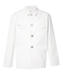 Julien David | Buttoned Jacket Large Cotton/Polyurethane