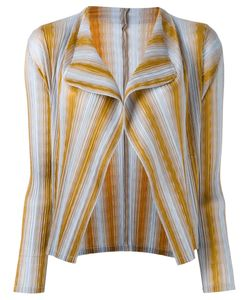 PLEATS PLEASE BY ISSEY MIYAKE   Striped Cardigan
