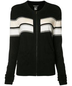 Thomas Wylde | Merinda Striped Cardigan Medium Silk/Cotton/Viscose/Spandex/Elastane