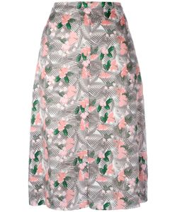 Julien David | Printed Midi Skirt