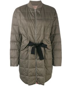 Moncler Gamme Rouge | Long Puffer Jacket Silk/Cotton/Feather