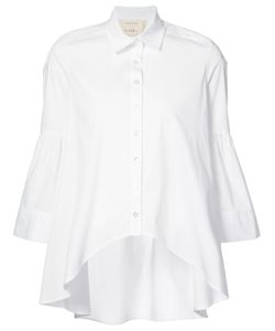 Nicole Miller   Curved Hem Shirt Size Medium
