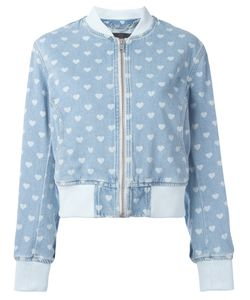 Diesel | Denim Heart Bomber Jaket Large Cotton/Polyester