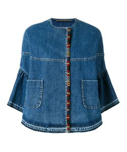 BAZAR DELUXE | Cropped Sleeves Denim Jacket 42 Cotton