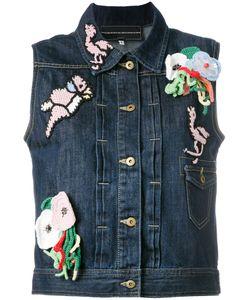 Michaela Buerger | Patches Sleeveless Denim Jacket Size Medium